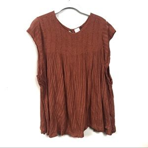 Anthropologie Akemi & kin Brown swing top m